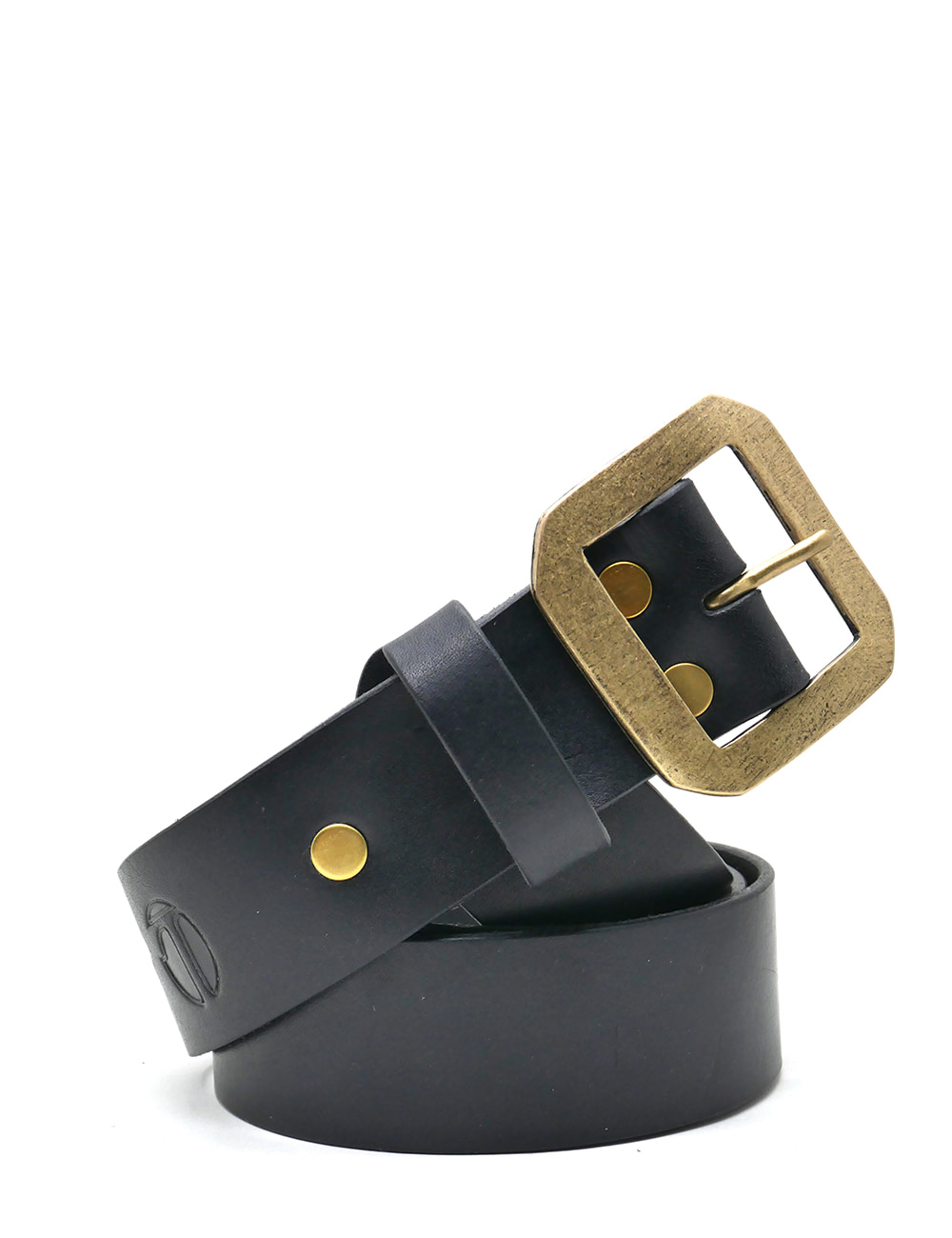 [LEATHER SMITH]  compulsory single belt(black&gold)